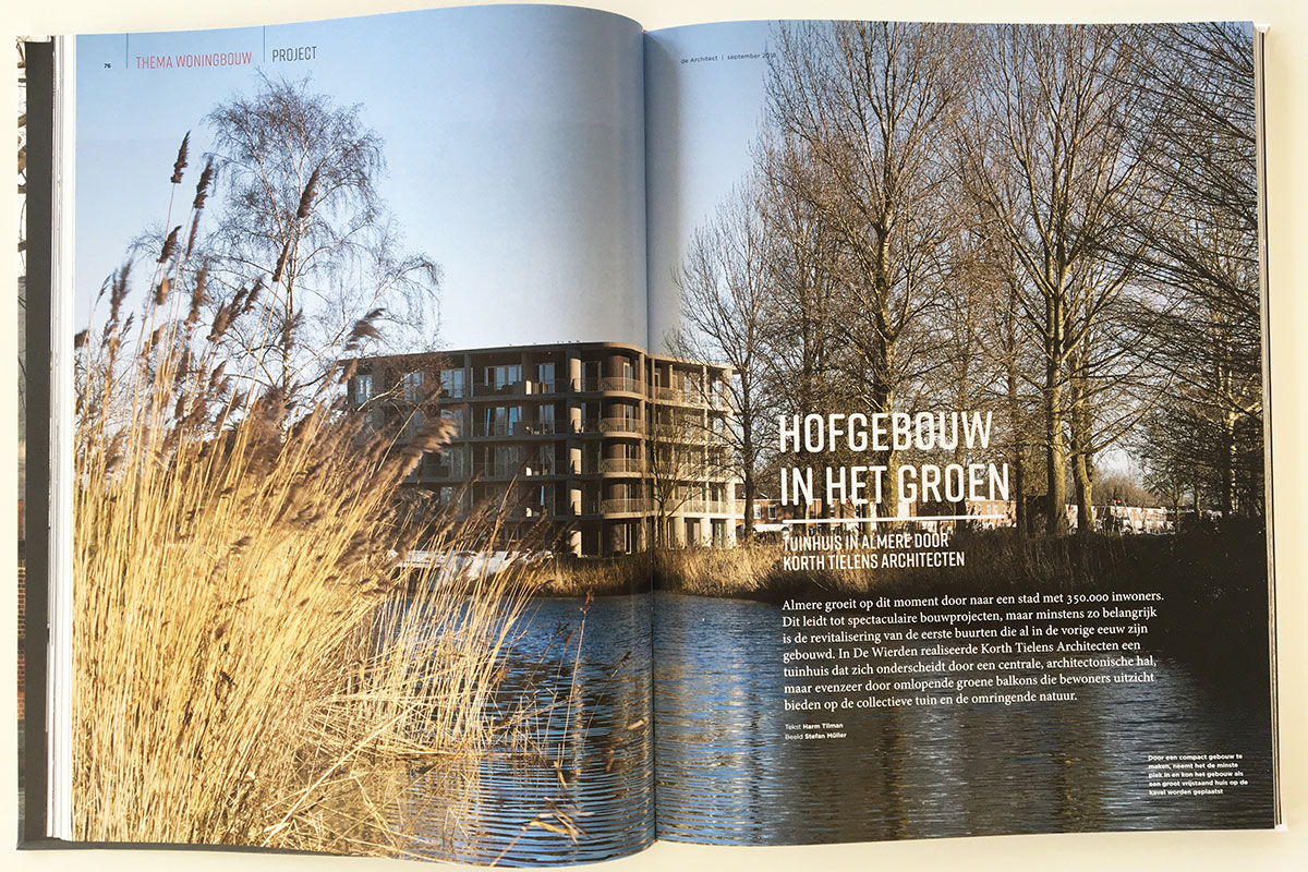 Tuinhuis Almere selected for theme issue housing the architect