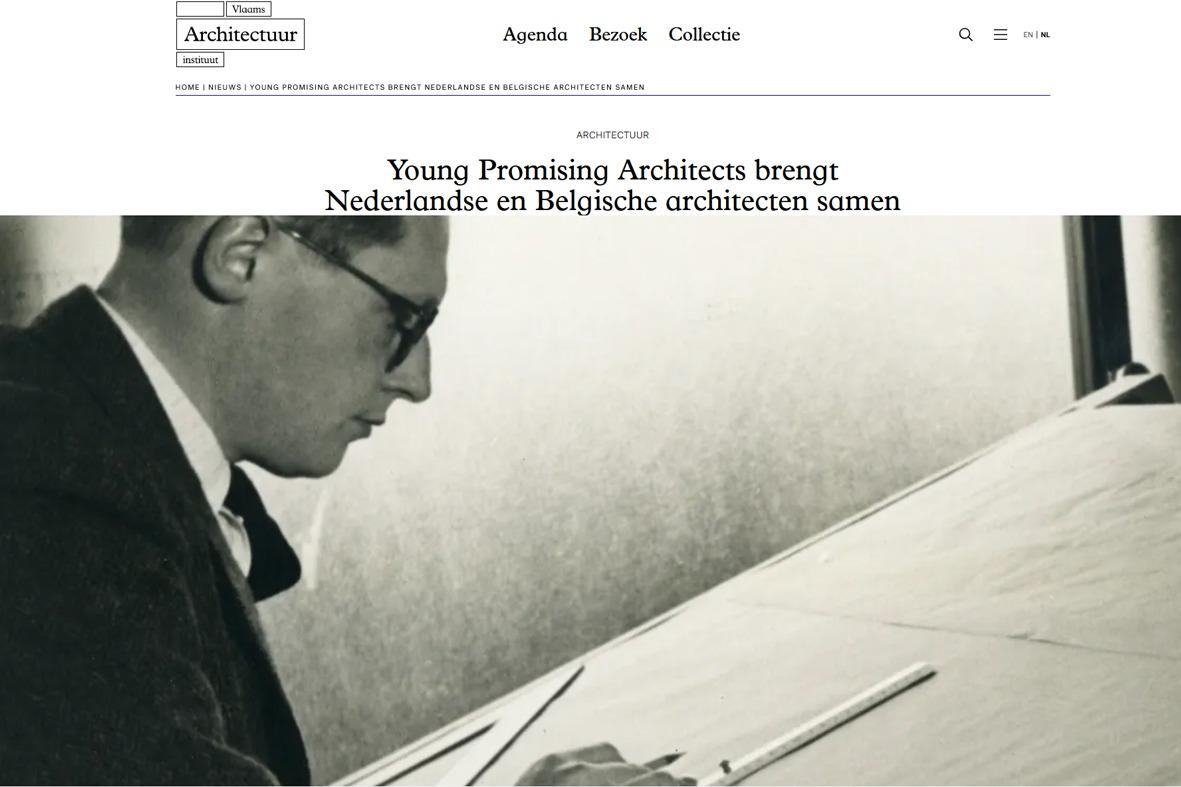 Gus Tielens geselecteerd voor young promising architects 2018